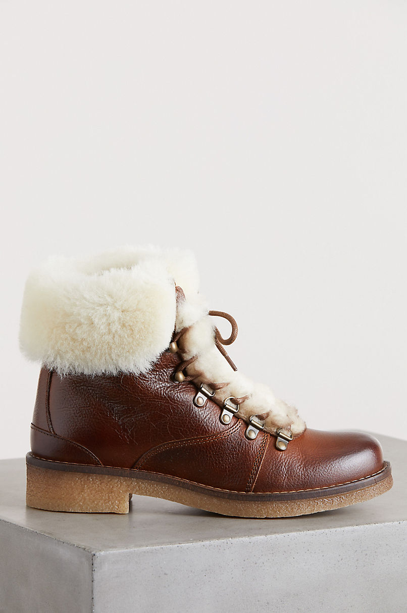 Women's Avery Wool-Lined Leather Hiker Boots