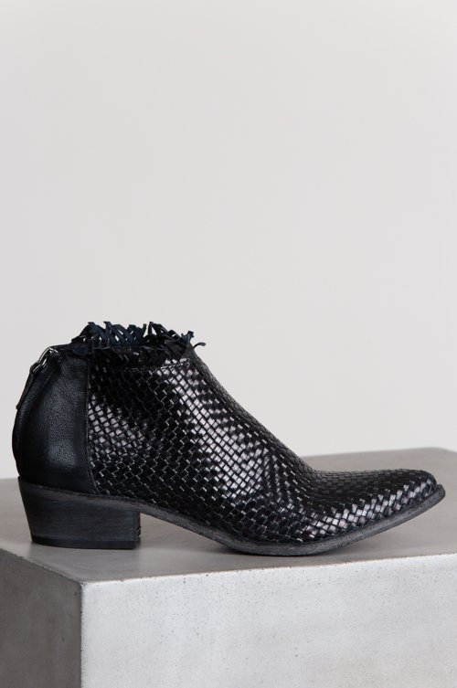 Women's Hera Woven Leather Ankle Boots
