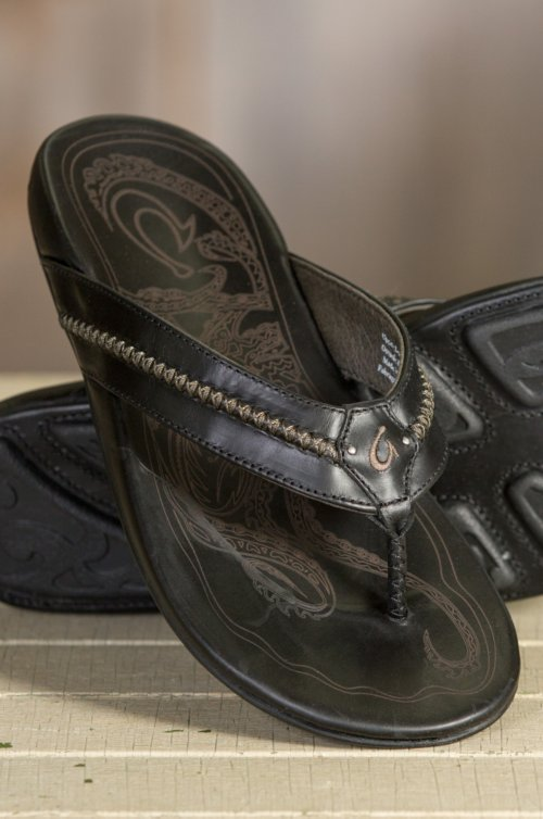 Men's OluKai Mea Ola Leather Sandals
