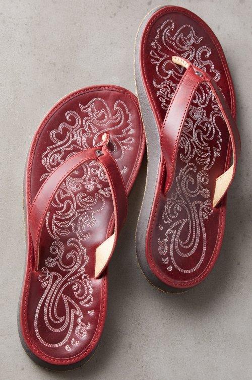 Women's OluKai Paniolo Leather Sandals