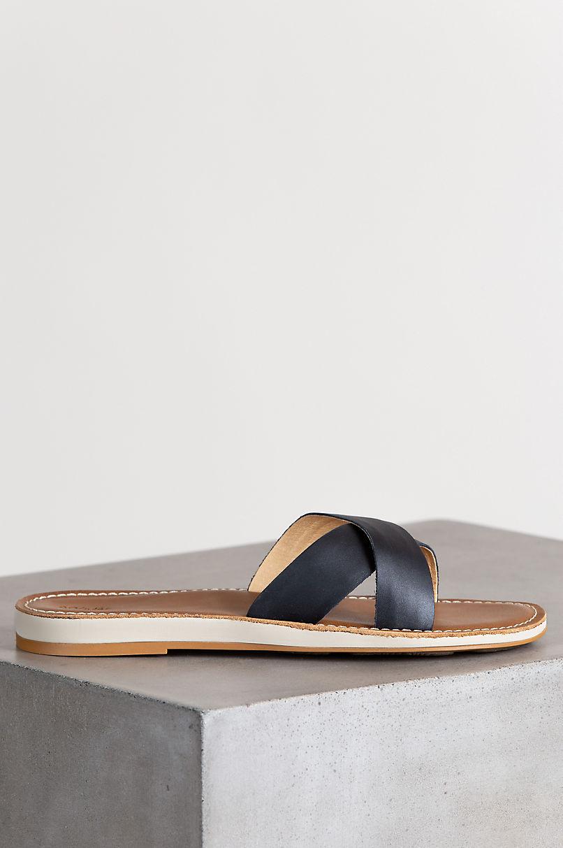 Women's OluKai Kea Leather Slide Sandals