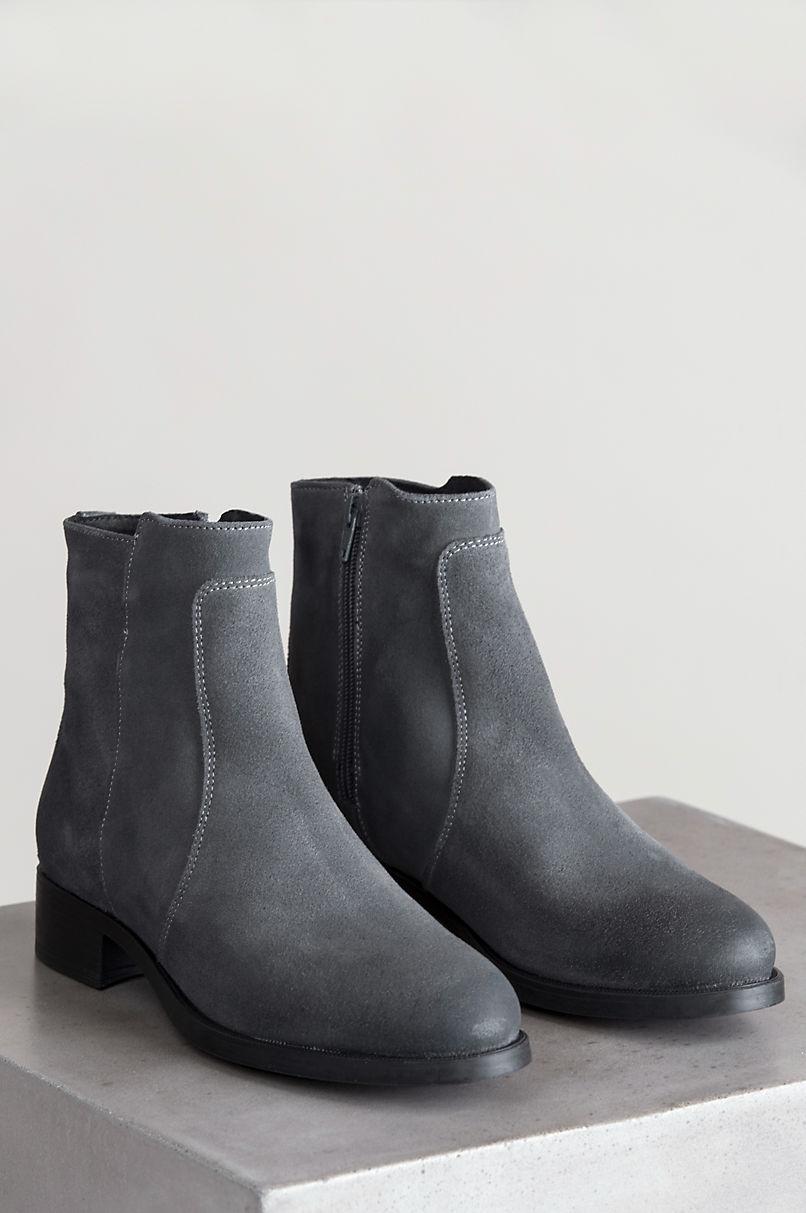 Women's Bos & Co Bun Waterproof Suede Ankle Boots