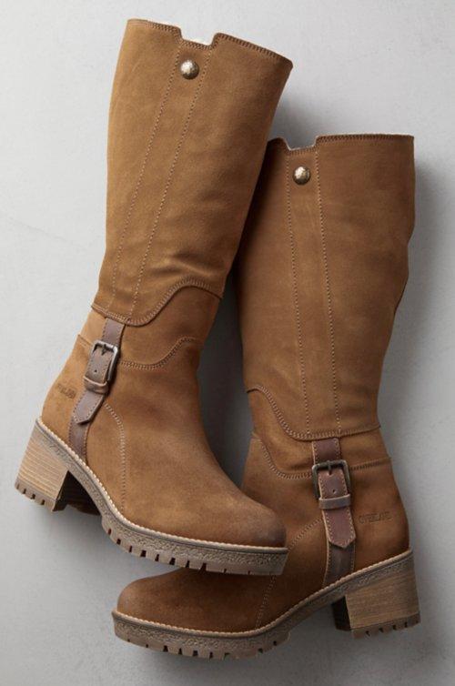 Women's Major Shearling-Lined Waterproof Suede Boots