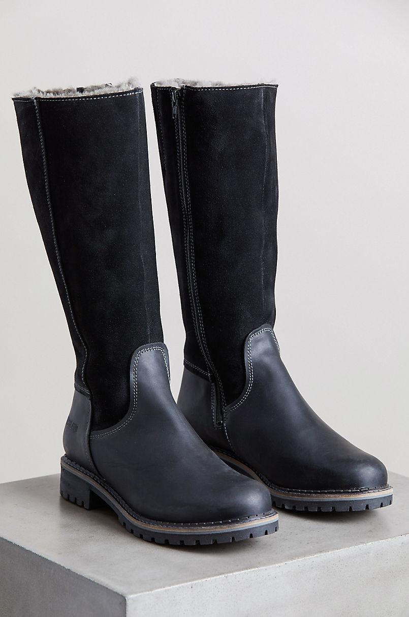 Women's Hudson Shearling-Lined Waterproof Leather Boots