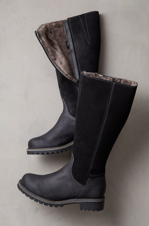Women's Hudson Shearling-Lined Waterproof Leather Boots