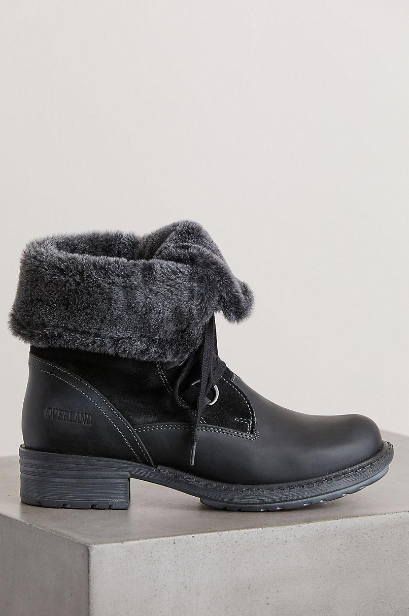 Women's Sono Wool-Lined Waterproof Leather and Sheepskin Boots