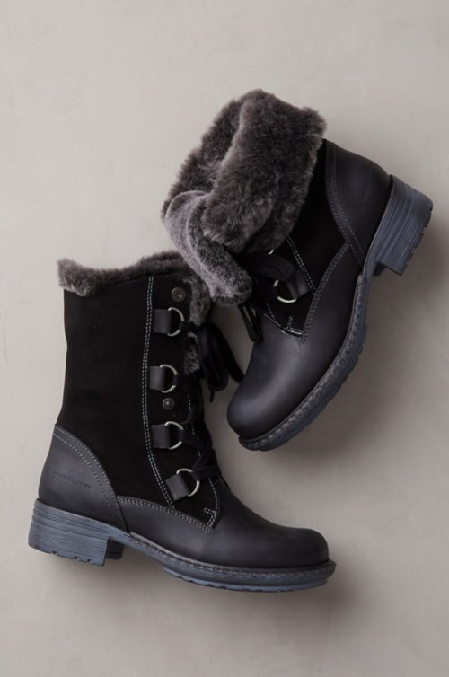 Women's Sono Wool-Lined Waterproof Leather and Sheepskin Boots