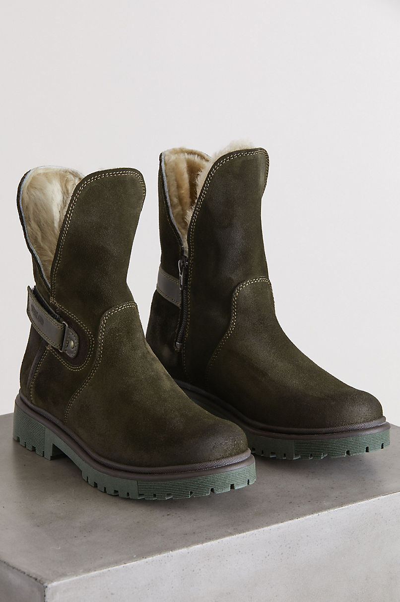 Women's Aden Wool-Lined Waterproof Suede and Sheepskin Boots