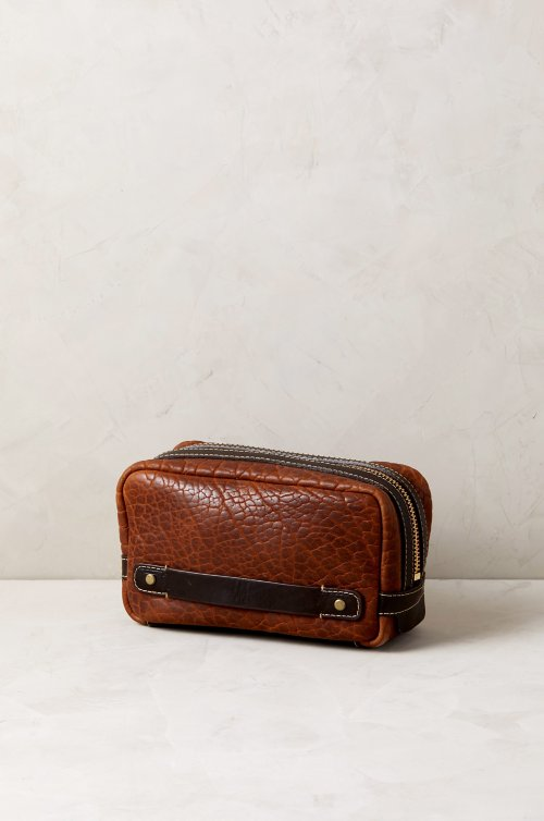 Legacy American Bison Leather Travel Kit