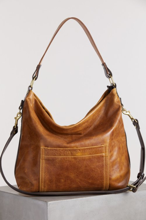 Mesa Leather Crossbody Shoulder Bag with Concealed Carry Pocket