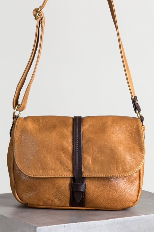Mesa Leather Convertible Crossbody Shoulder Bag with Concealed Carry Pocket