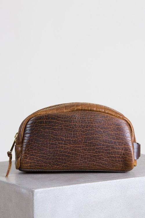 Legacy American Bison Leather Medium Travel Kit