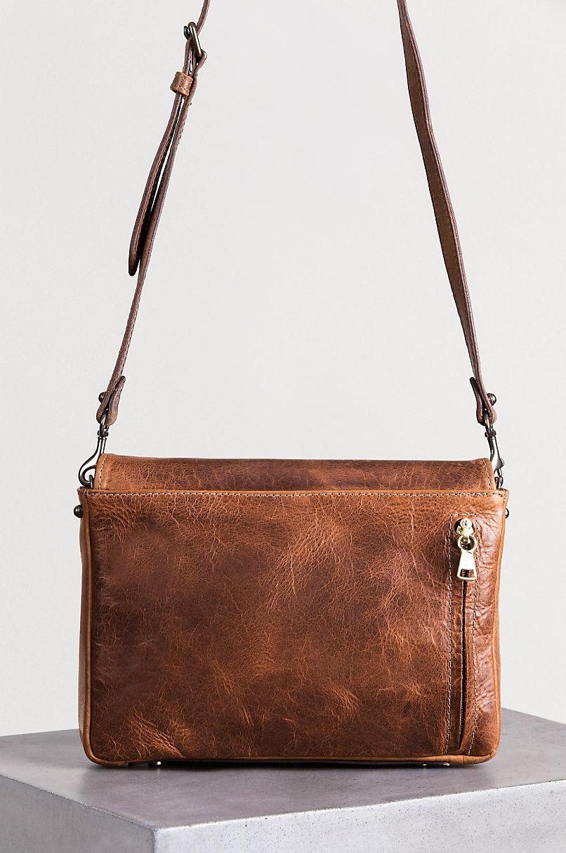 Santa Fe Bison Leather Crossbody Messenger Bag with Concealed Carry Pocket