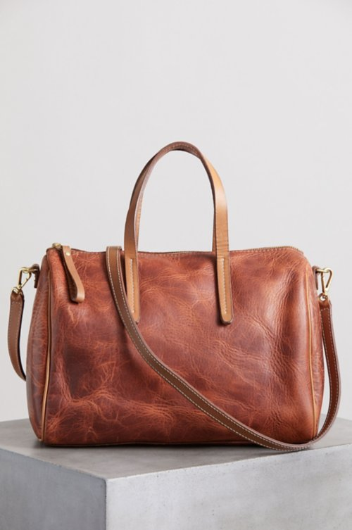Sedona Vintage Horween Leather Crossbody Top Handle Handbag with Concealed Carry Pocket