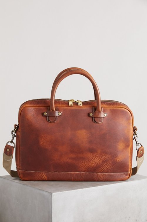 Sedona Vintage Slim Horween Leather Briefcase