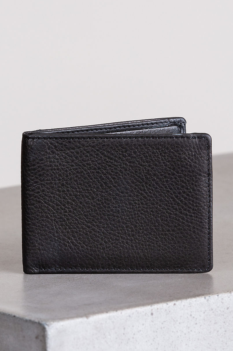 Ultra Mini Leather Billfold Wallet