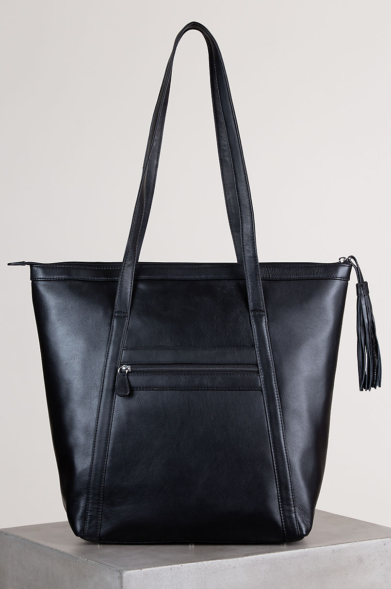 Odessa Cowhide Leather Tote Bag
