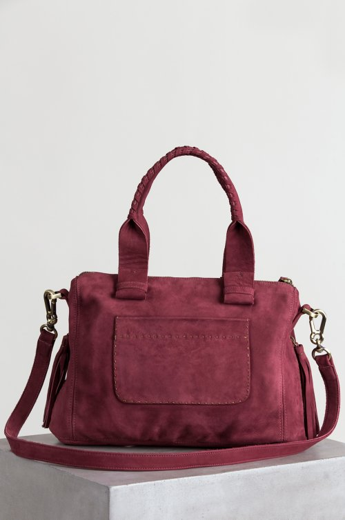Sonoma Nubuck Leather Top Handle Shoulder Bag