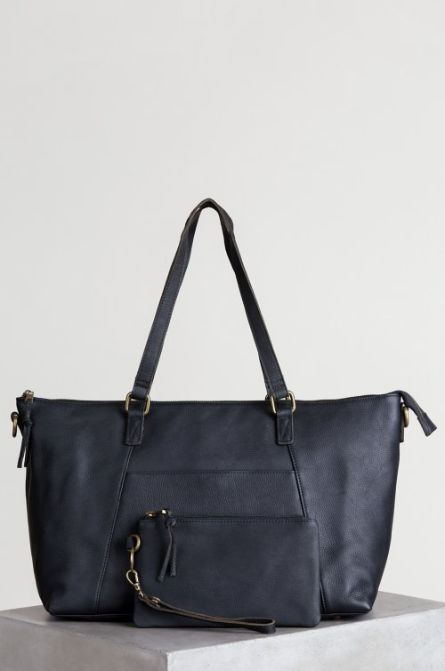 Montecito Getaway Leather Travel Tote Bag