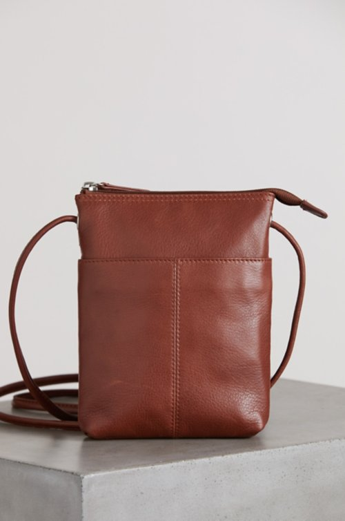 Florence Small Argentine Leather Crossbody Bag