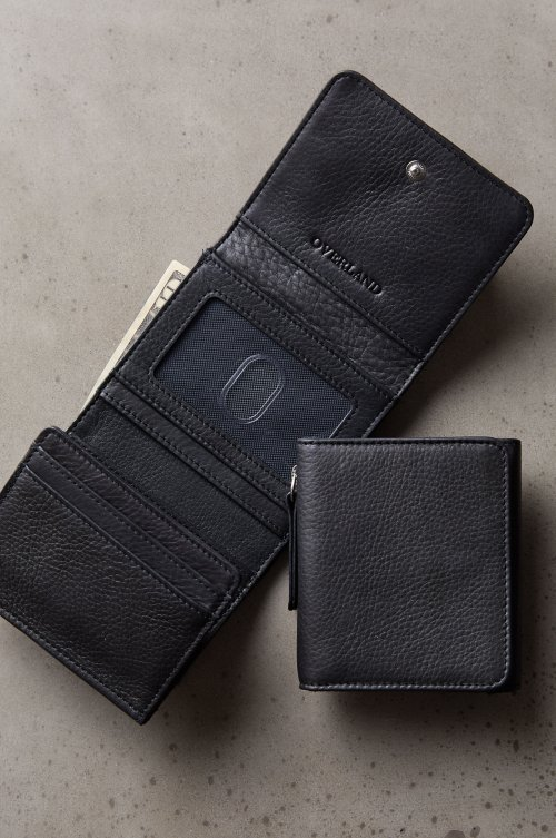 Argentine Leather Trifold Wallet with Coin Pouch