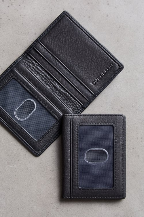 Double ID Leather Card Case Wallet
