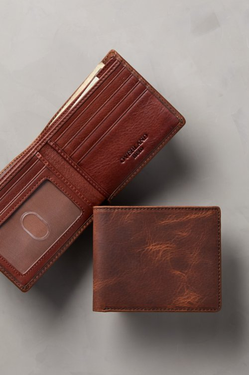 Thinfold Distressed Leather Billfold Wallet