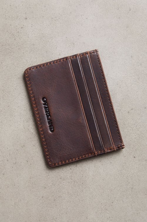 Slim Distressed Leather Wallet
