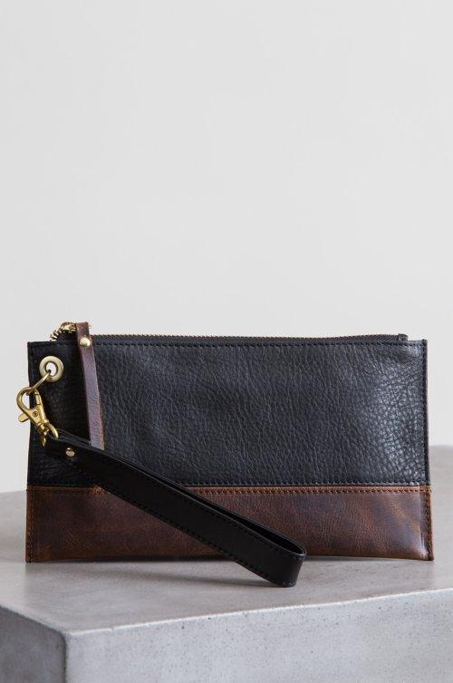 Roma Argentine Leather Wristlet Clutch Wallet