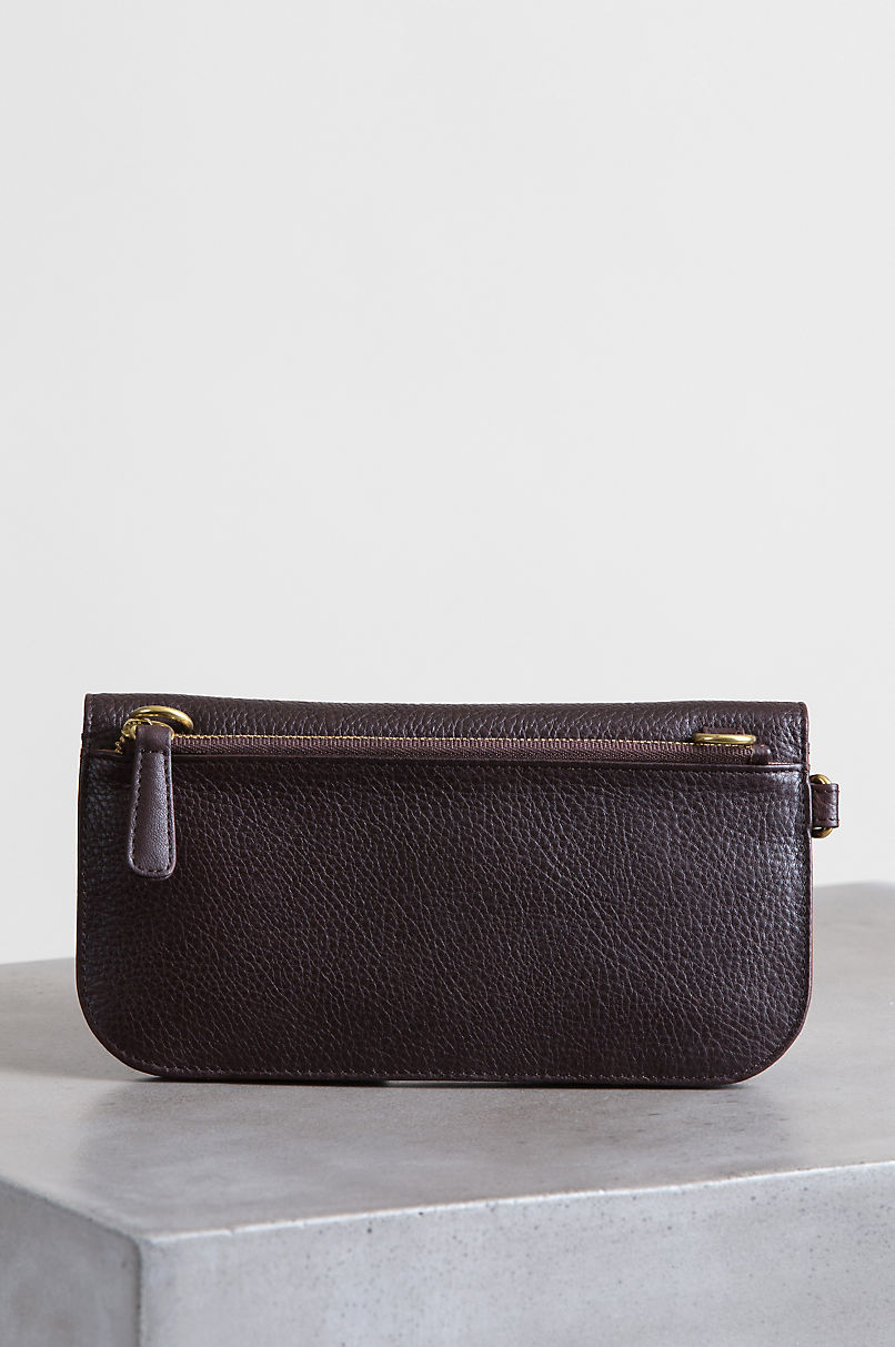 Florence Argentine Leather Crossbody Clutch Wristlet