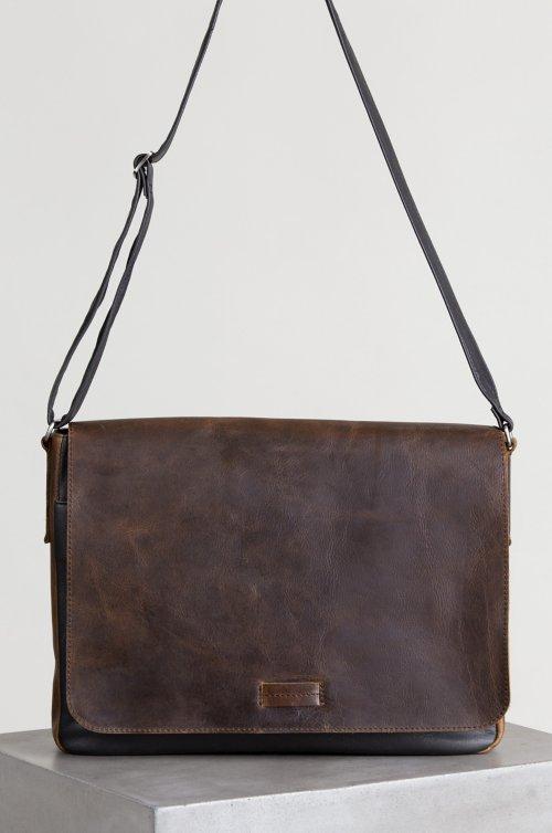 Princeton Distressed Argentine Leather Convertible Messenger Bag