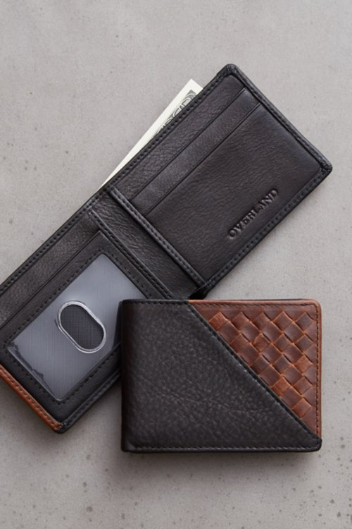 Mini Thinfold  Woven Argentine Leather Billfold Wallet