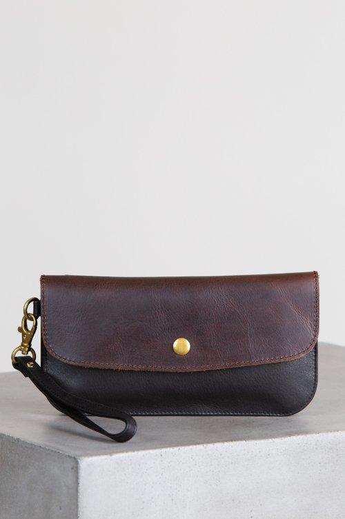 Roma Argentine Leather Crossbody Clutch Wristlet Wallet