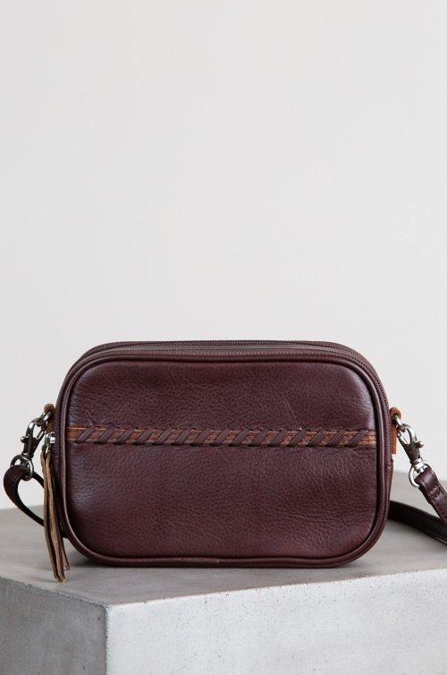 Venice Argentine Leather Crossbody Camera Clutch