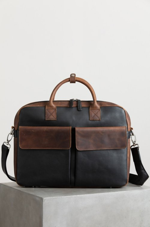 Princeton Distressed Argentine Leather Briefcase