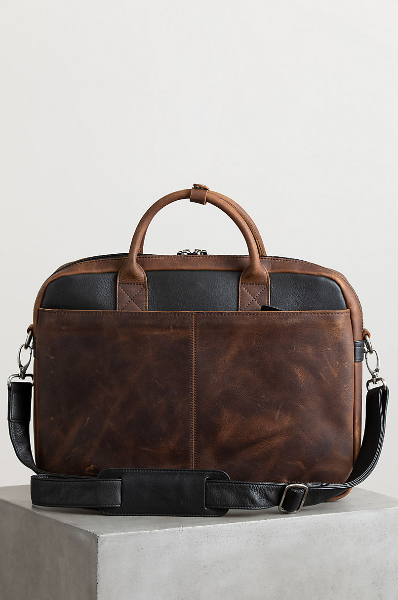 Princeton Distressed Argentine Leather Briefcase