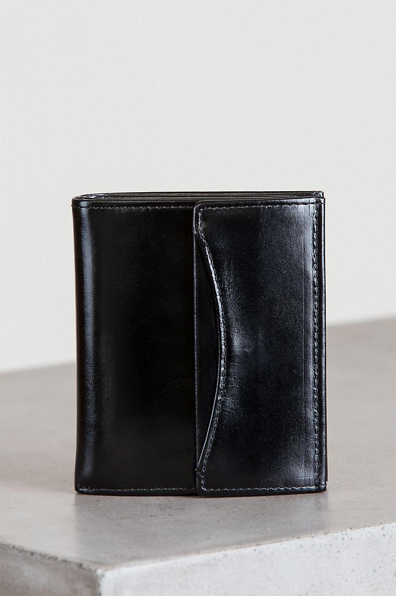 Hadley Oiled-Leather Mini Wallet