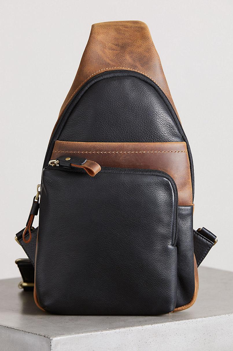 Tahoe Leather Sling Backpack