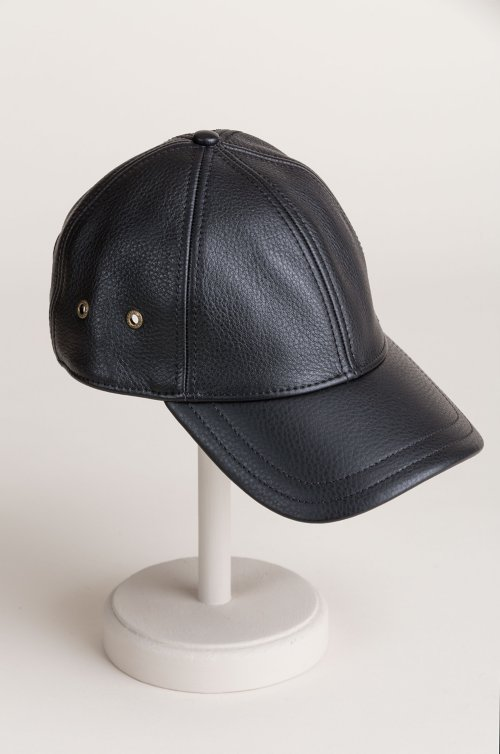 Antique Leather Baseball Cap