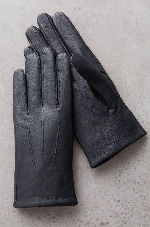 Men's Linden Cashmere-Lined Lambskin Leather Gloves