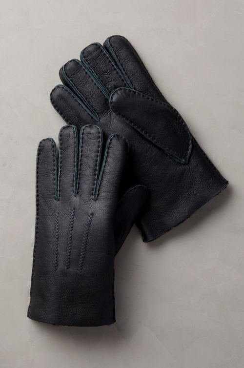 Men's Pine Spanish Sheepskin Gloves