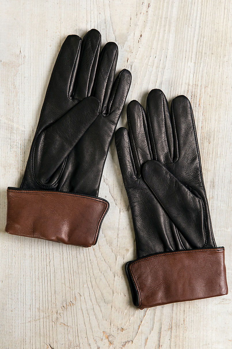 Women's Sumac Silk-Lined Lambskin Leather Gloves