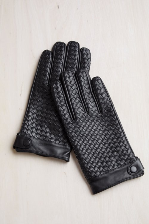 Men's Cypress Cashmere-Lined Lambskin Gloves