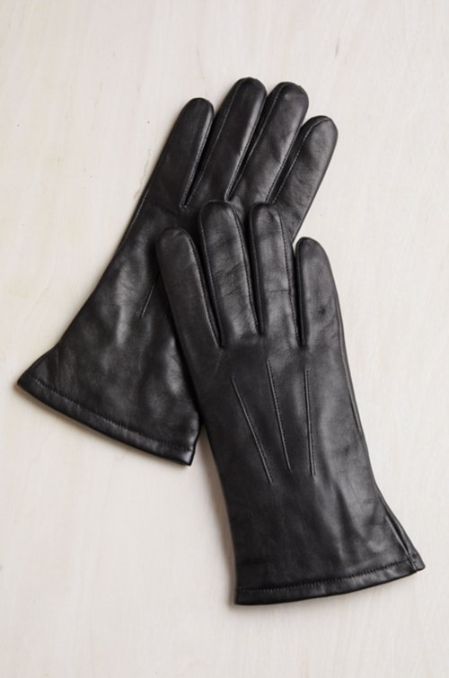 Women's Daphne Cashmere-Lined Lambskin Leather Gloves