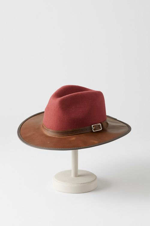Summit Wool Felt and Leather Safari Hat