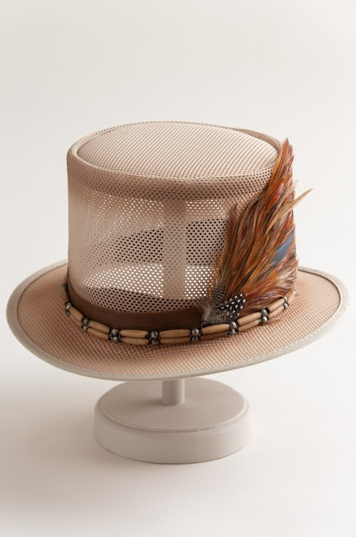 Steampunk Doc Mesh Breezer Top Hat