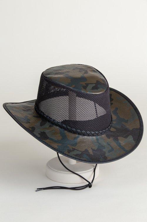 Jase Camo Leather Breezer Western Hat