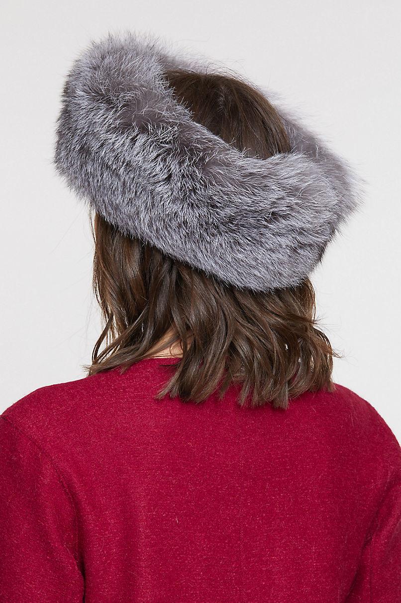 Finnish Fox Fur Convertible Headband and Fur Collar