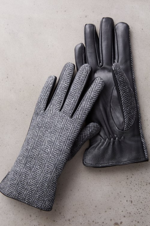 Women's Zinnia Cashmere-Lined Wool and Lambskin Leather Gloves