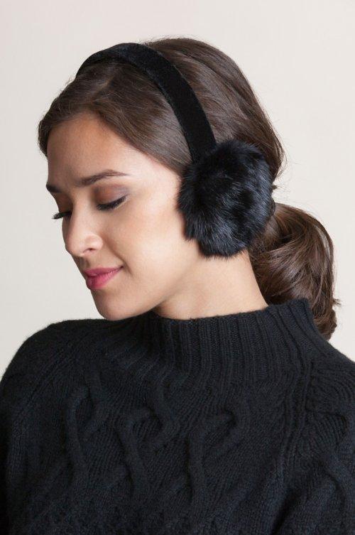 Canadian Mink Fur Earmuffs